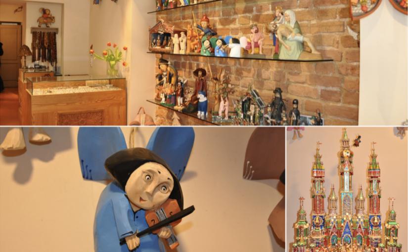 Drewniane ręcznie produkowane anioły i szopki bożonarodzeniowe doskonałe na prezent
